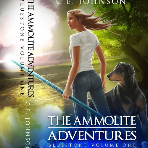 Book Cover Design and Artwork for The Ammolite Adventures (CE Johnson)