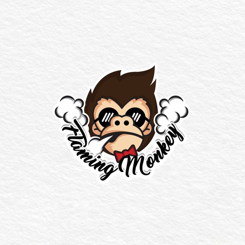 Design hip logo for a trendy new Shisha restaurant in Dubai - Flaming Monkey