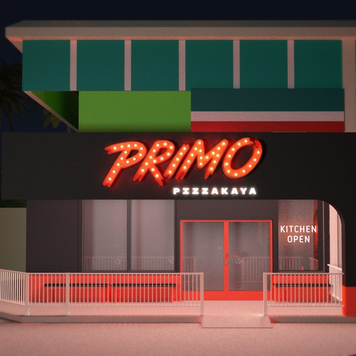 Primo Pizzakaya exterior visualisation