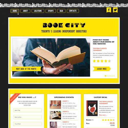 Book store hame page design