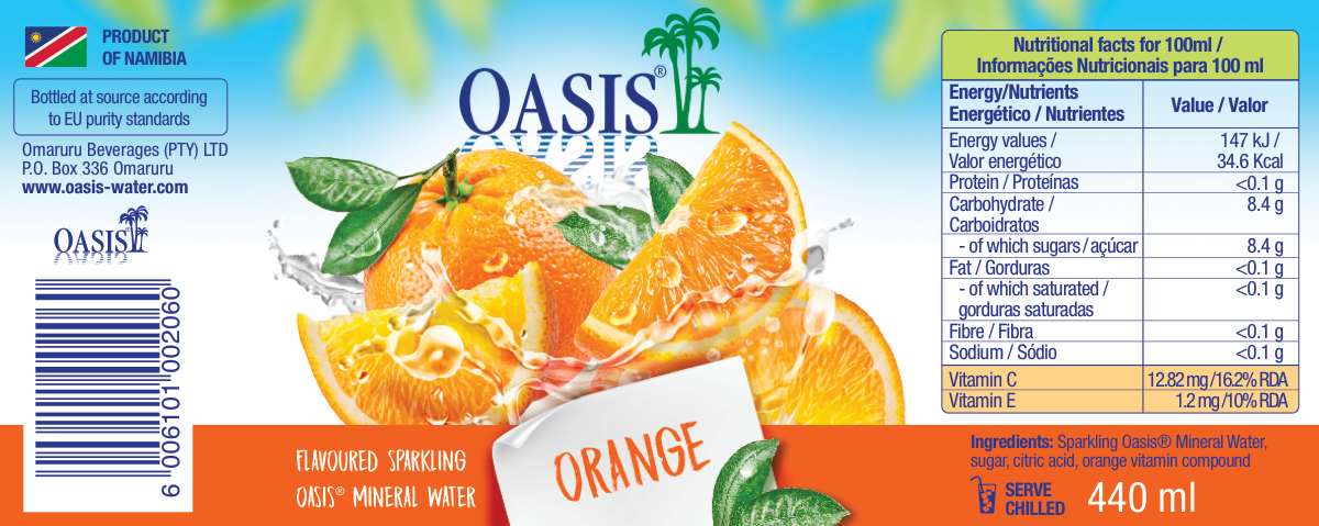 OASIS Flavoured Drinks