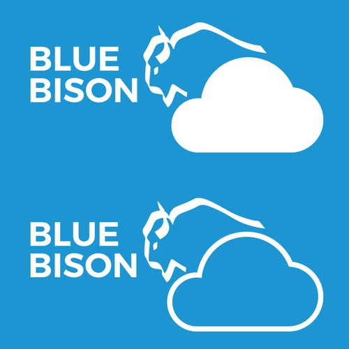 Blue Bison Cloud Logo