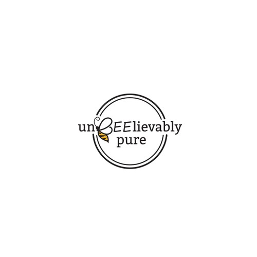 """Logo for """"unBEElievably pure"""""""