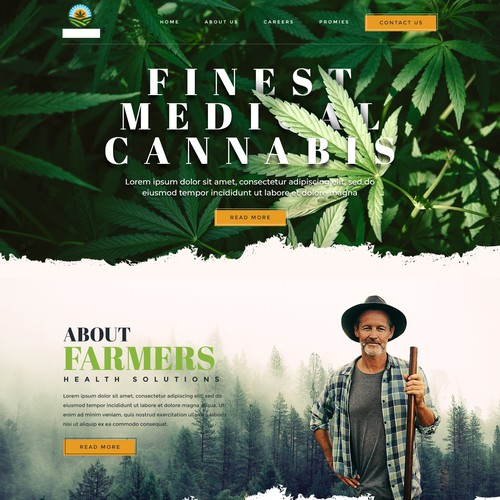 Landing page design for Marijuana growing Website