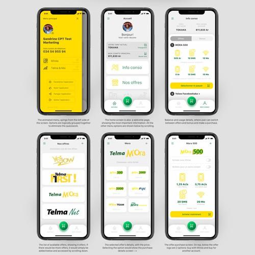 App design for a mobile carrier