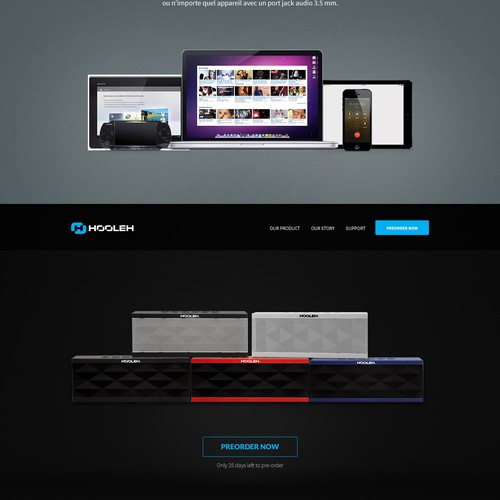 Hooleh - Website for Audio Speaker Electronics Brand