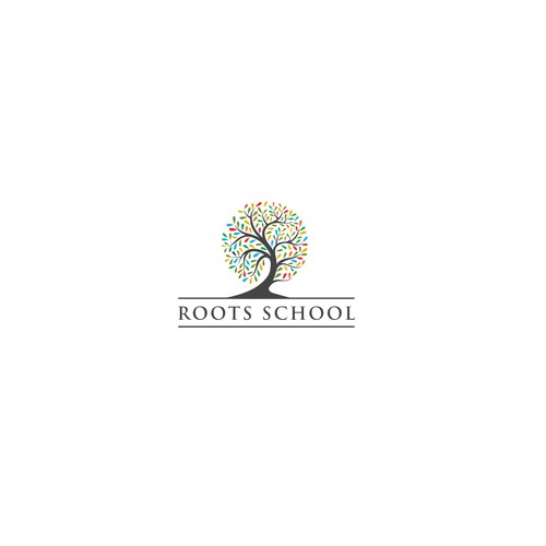 "Create a ""ROOTS School"" logo for kids to grow on!"
