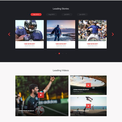 Web design for TheLeadSports