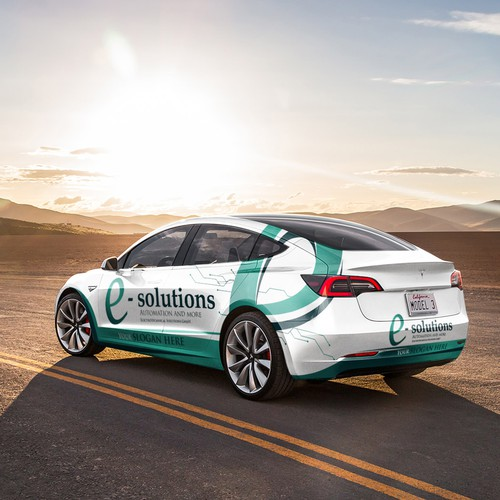 Electro echnical Solutions Car Wrap