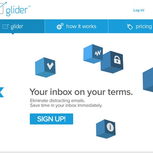 Completely re-design the look and feel of a SaaS email filtering service.