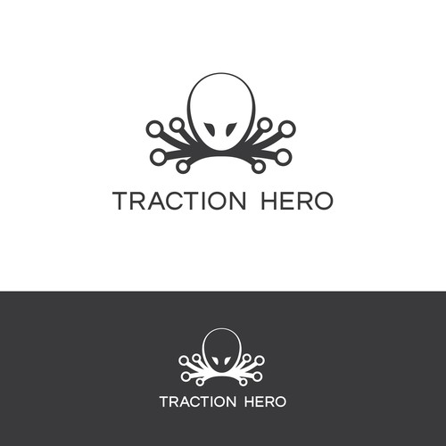 Simplistic modern logo for Traction Hero