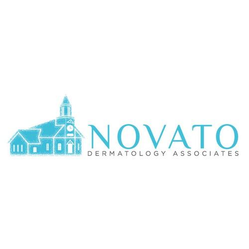 Design a professional logo for Novato Dermatology Associates' new building