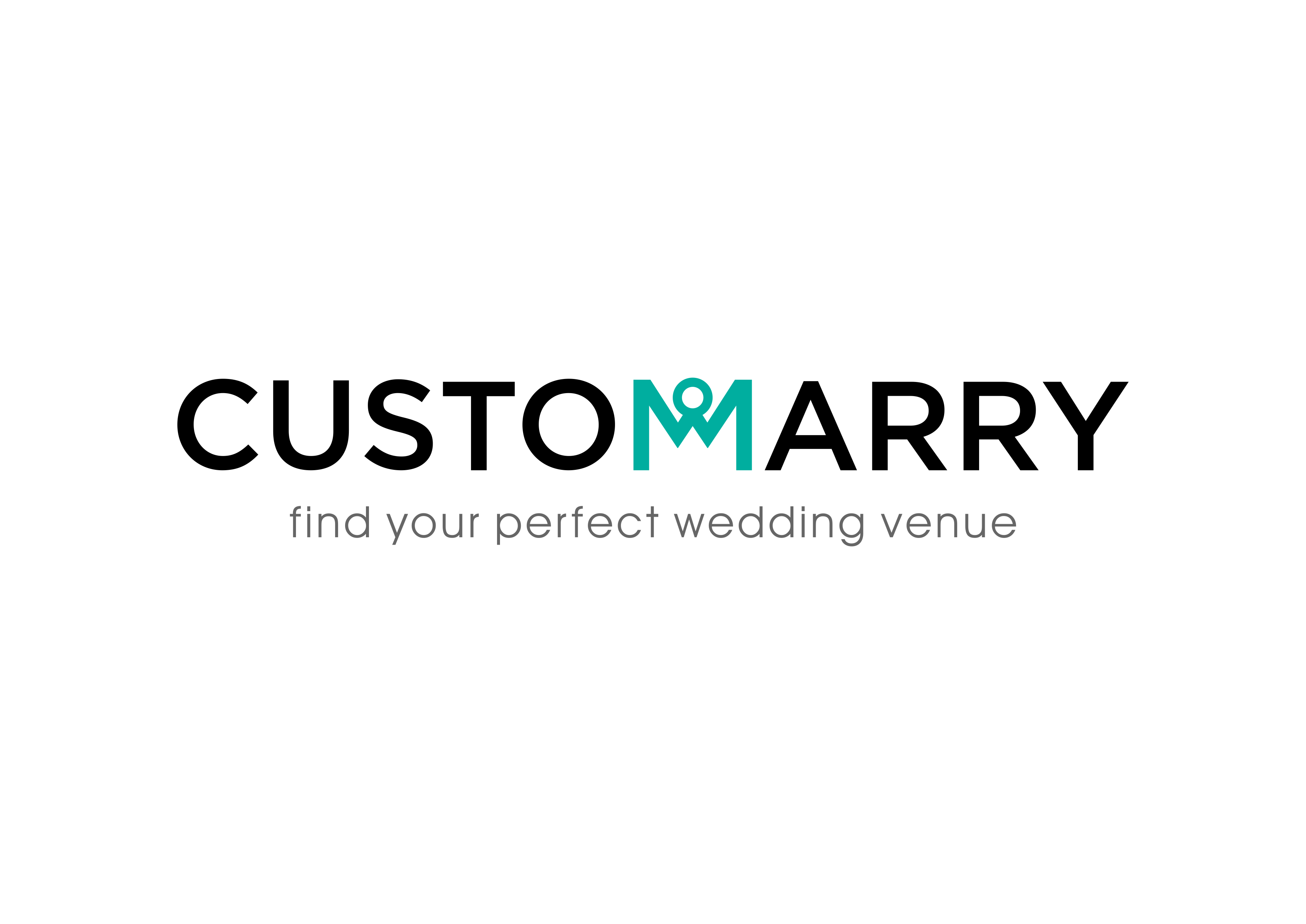 """Create a modern but elegant and timeless wordart for CustomMarry with a logo that """"marries"""" the two letter M's"""