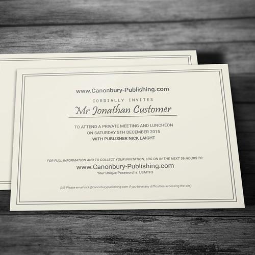 Entrepreneur invitation card