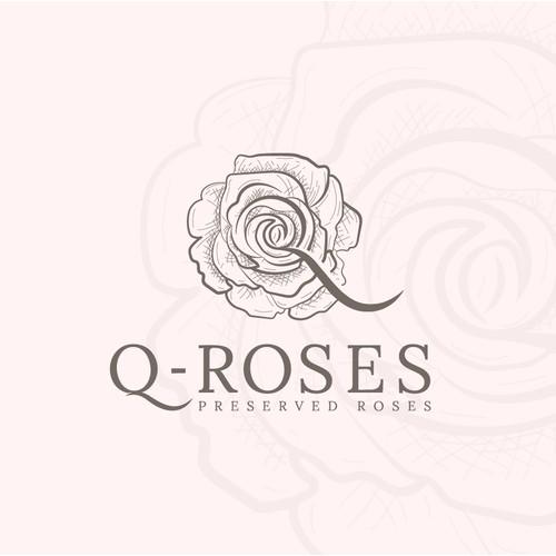 I made this Q-Roses logo design for a Floral Company.