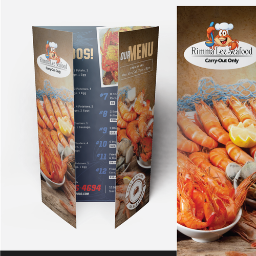 Menu Design for Rimma Lee Seafood