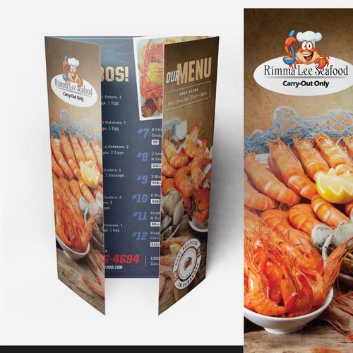 Menu Design for Rimma Lee Seafood