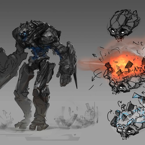Concept of the robot, for movie