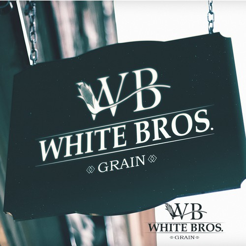 Logo concept for White Bros. Grain.