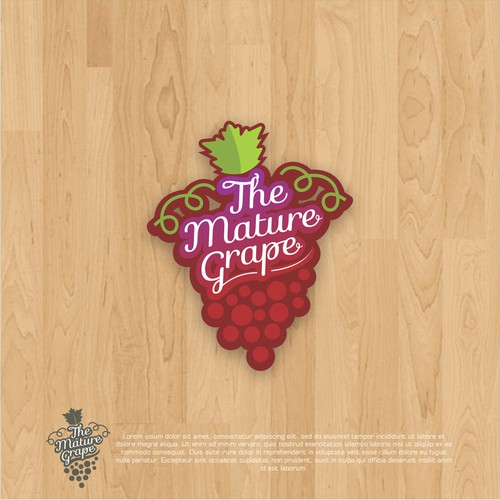 logo concept for Mature Grape