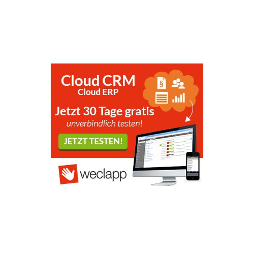 Create elegant and captivating Banner Ads for weclapp (Cloud Software)