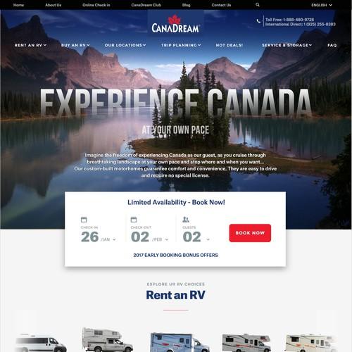 Website design responsive layout