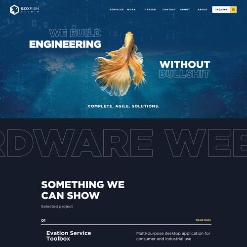Consultation Website homepage
