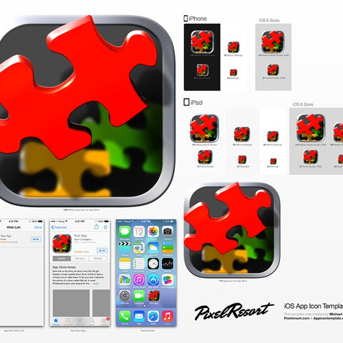 Create an Amazing iOS icon for a Puzzle game