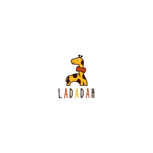 Cute giraffe logo