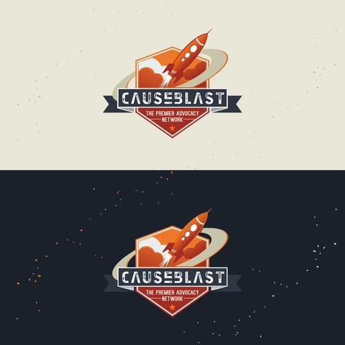 Create a Logo using with Retro theme using a Rocket for CauseBlast!™