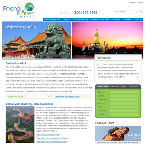 Travel Website Design with 3 to 6 times More Work After You Win
