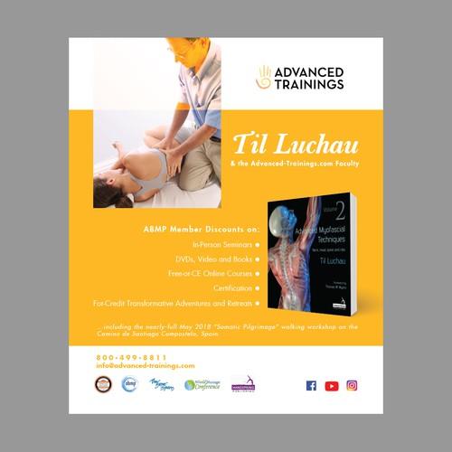 Print ad design for Til Luchau