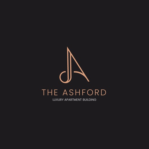 luxury logo for Apartment building