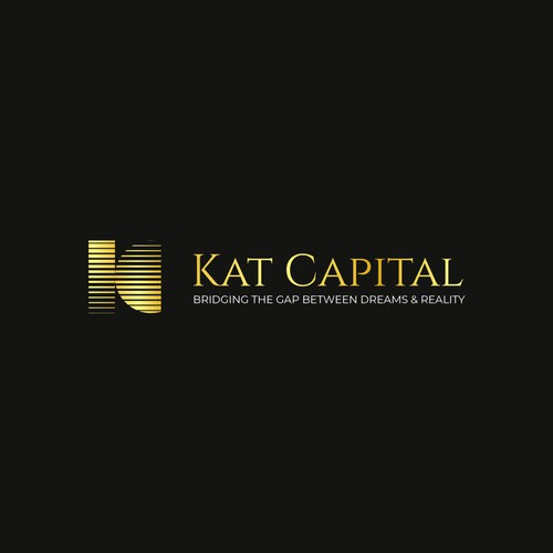 An abstract and minimal logo concept for financial business