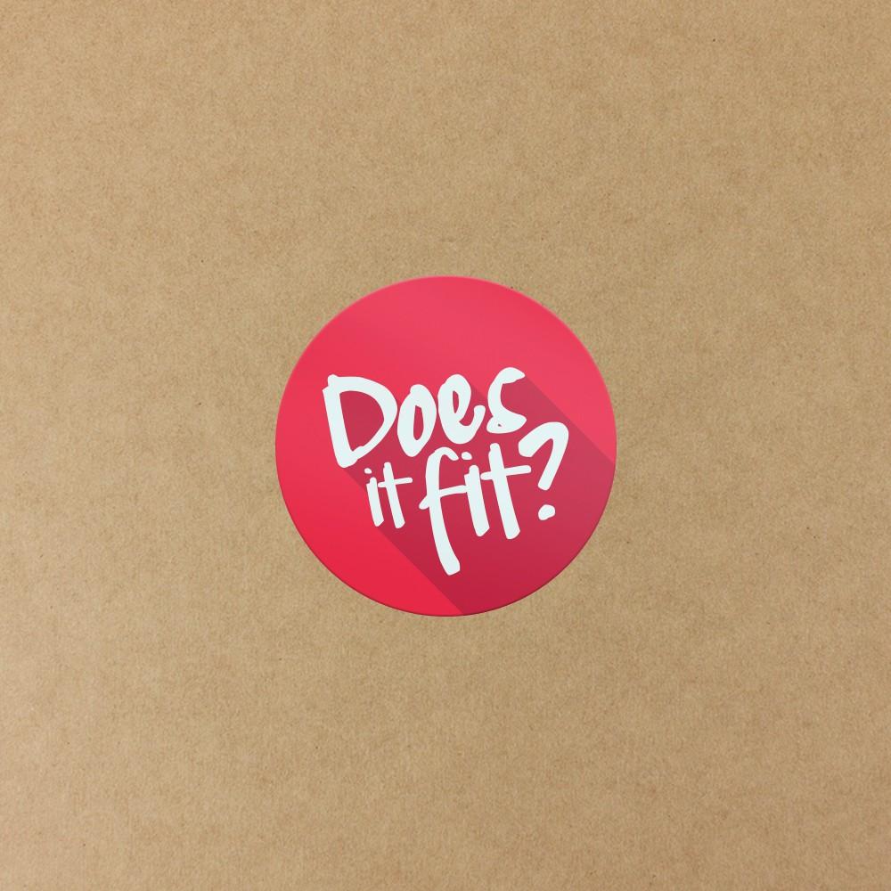 Design a show-stopping sticky badge for my shipping box // Erstelle einen Hingucker-Sticker für meine Versandschachtel