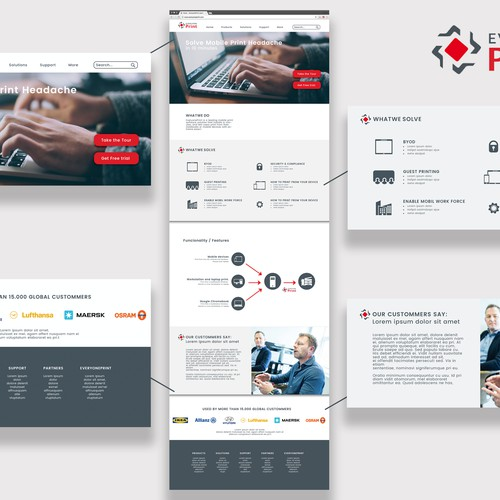 Design for Homepage for Everyone Print