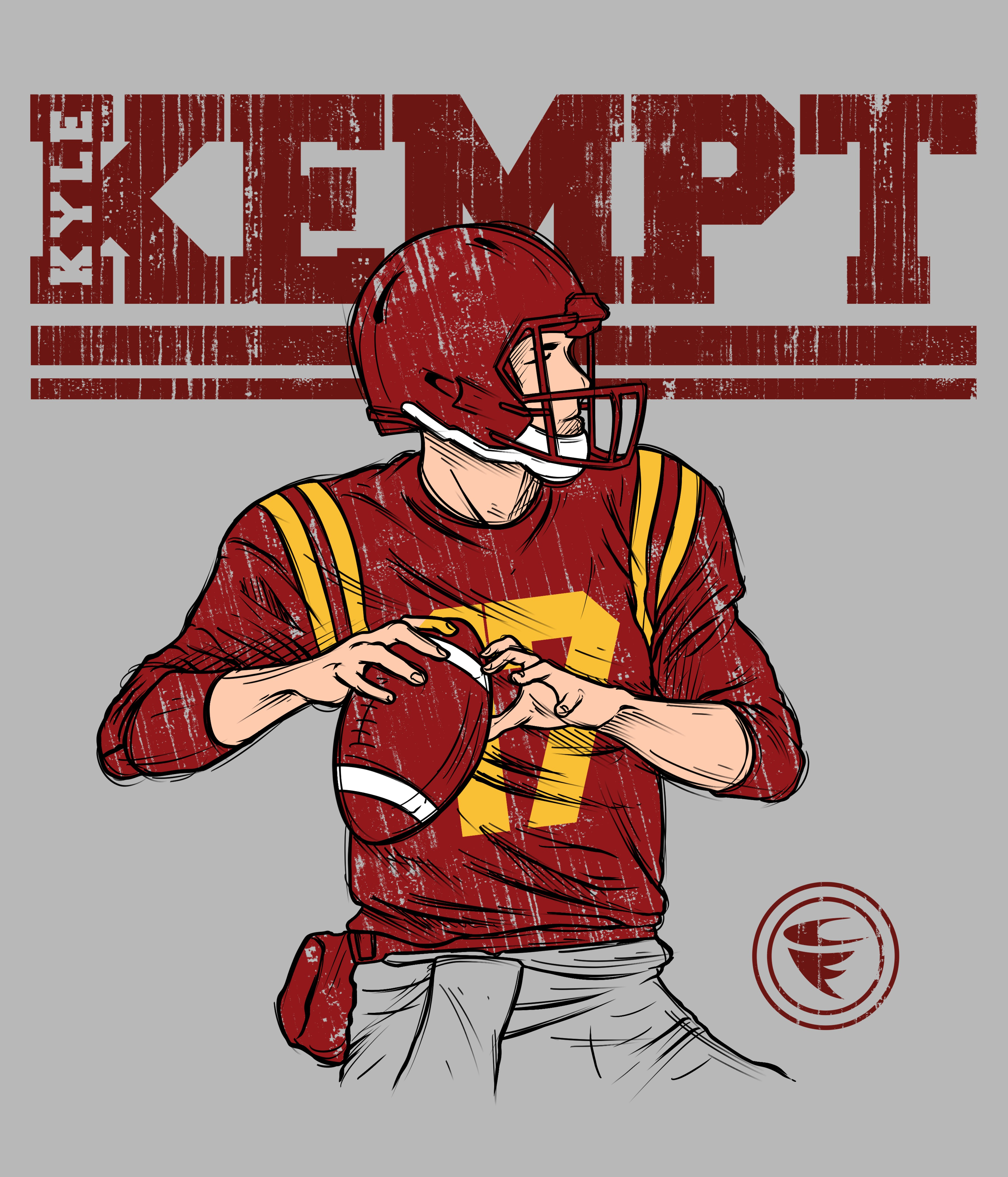 Create a Football Player Inspired Design for a Tee