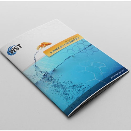 Clean and fresh brochure design for Water Science Technologies