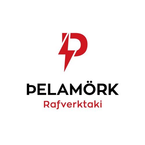 Þelamörk. Brand logo for an electrical company