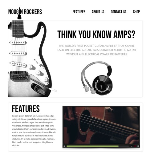 Noggin Rockers  needs a new website design