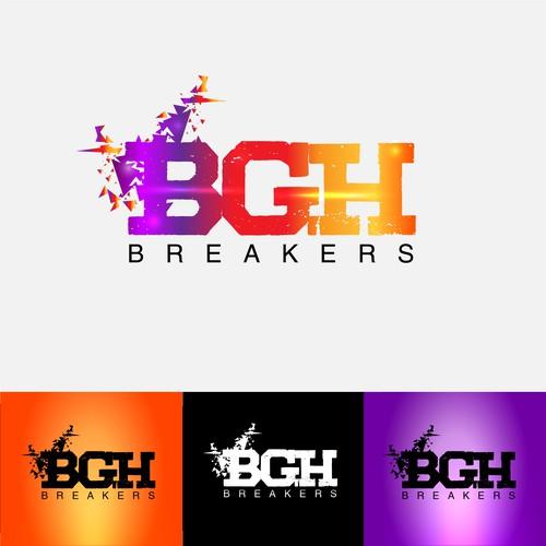 Logo design for BGH breakers sport club