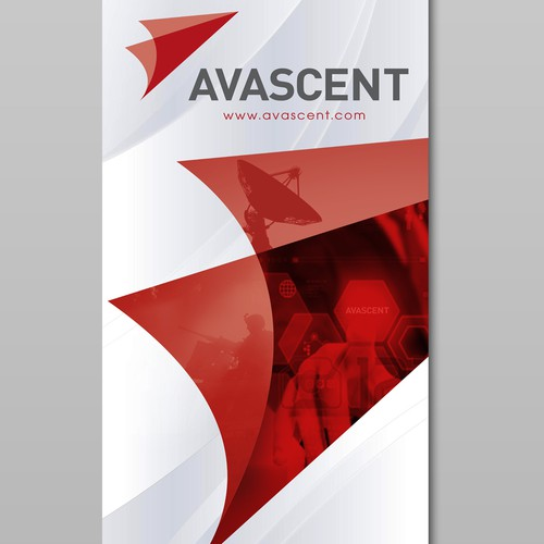 Stand-up banner for use at trade shows for Avascent.