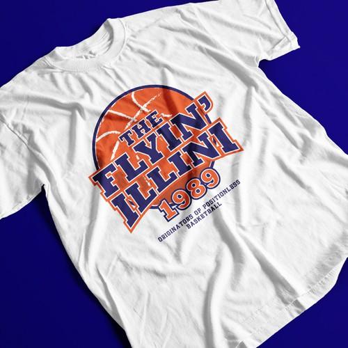 Tshirt design of basketball fans