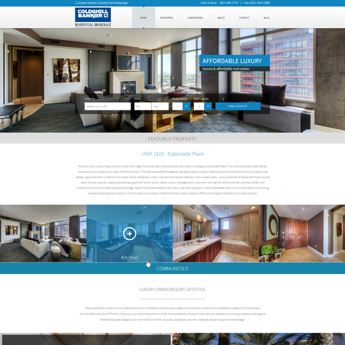 Web page for Coldwel