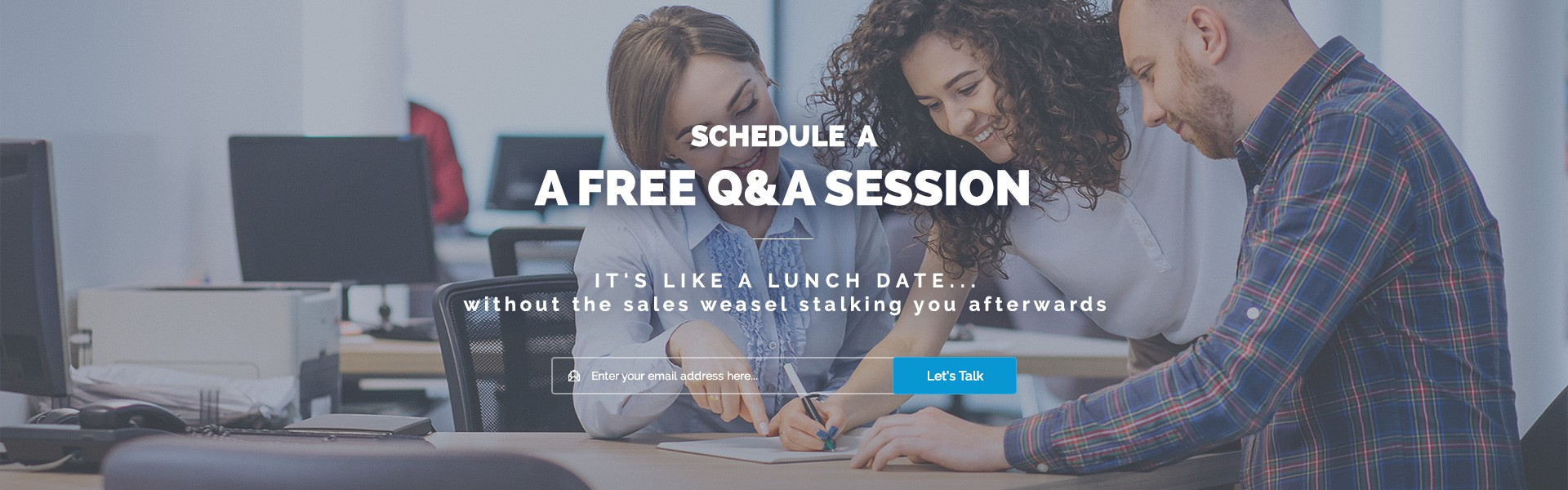 CTA Design - Schedule A Free Q&A Session