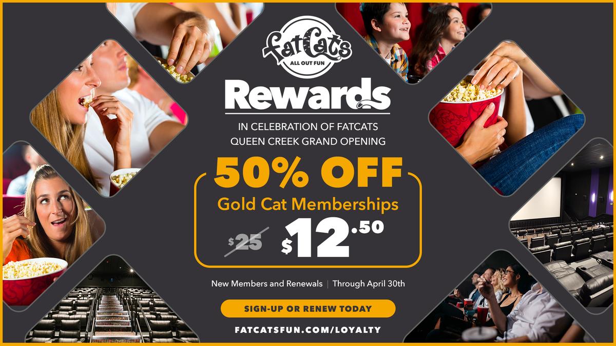 Half Price Gold Cat Memberships April