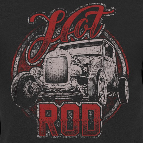Awesome Vintage Hot Rod T-shirt