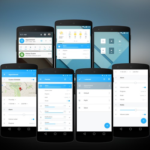 Create a beautiful design for a volume control app