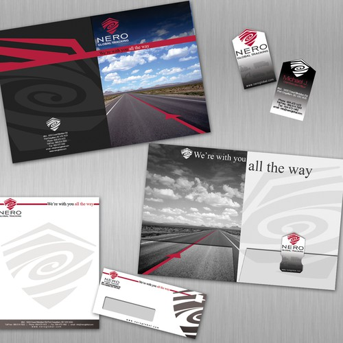 Corporate stationery package using existing logo