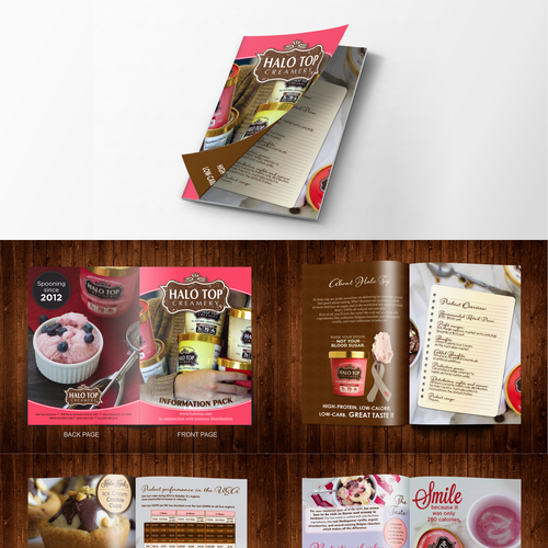 Brochure for Halo Top Creamery